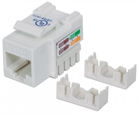 INTELLINET/Manhattan 210355 Cat5e Keystone Jack  WHITE, Stock# 210355