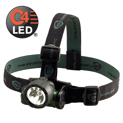 Streamlight 61051 Trident Div. 2 with (2) White and (1) Green LED with alkaline batteries. Rubber & Elastic straps. Green, Stock# 61051