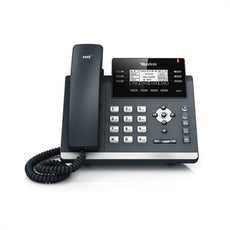 Yealink SIP-42G ~ 3 line Ultra Elegant IP Gigabit Desk Phone w/ (9-Port POE Switch, 8 POE Ports,  8 Extra Coil Cords) ~ NEW