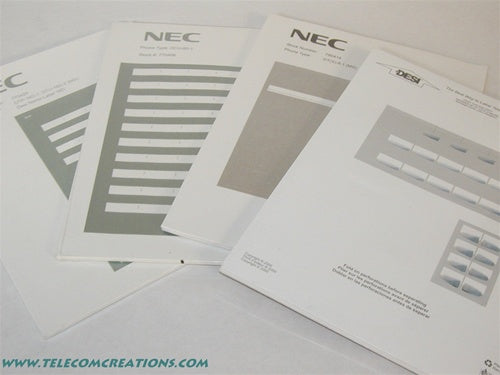 NEC UNIVERGE DESI Laser Labels for the ITL-24D / DTL-24D Stock# 680659 Part# Q24-FR000000113048 NEW