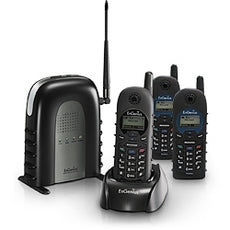 "EnGenius Durafon1X Bundle Kit: 1 Durafon1X System ~ Includes 1 Durafon Base Unit and 1 Durafon Handset, with additional 2 ""Durawalkie""1X-HC Handsets ~ Stock# DURAFON1X-VP02 ~ NEW"