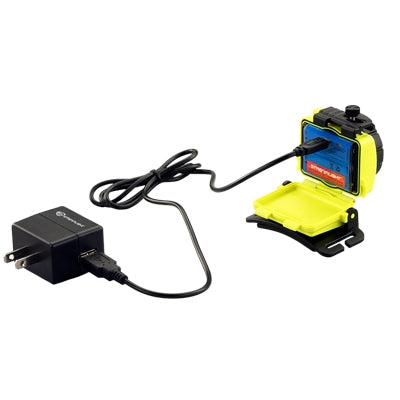 Stramlight 61602 Double Clutch USB 120V AC - Yellow, Stock# 61602