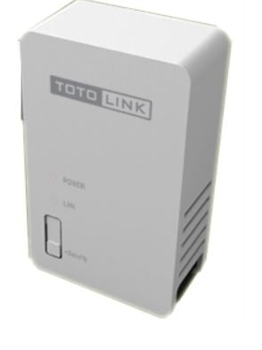 TOTOLINK PL200 200M power line adapter - Single Unit Power Line Adapter, Stock  No# PL200