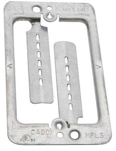 Single Gang Tabbed Metal Retrofit Mounting Bracket, Stock# B100VZ