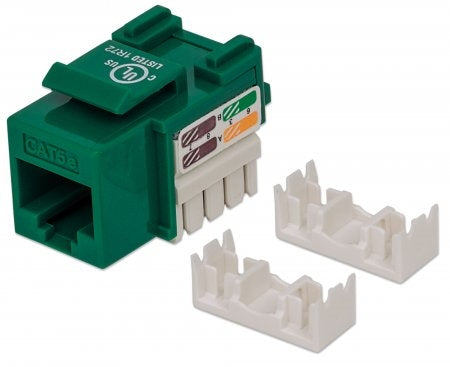 INTELLINET/Manhattan 210997 Cat5e Keystone Jack GREEN, Stock# 210997