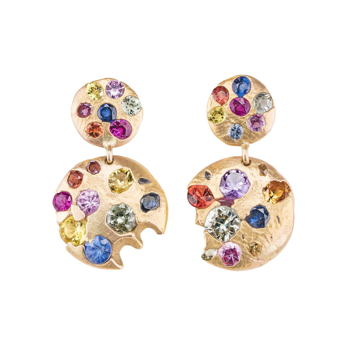 The Double Disc Drop Earrings - PollyW