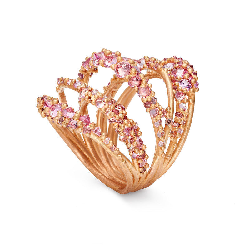 Pink Elara Ring on Rose