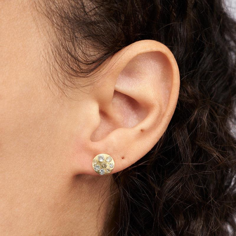 White Medium Celeste Single Earring