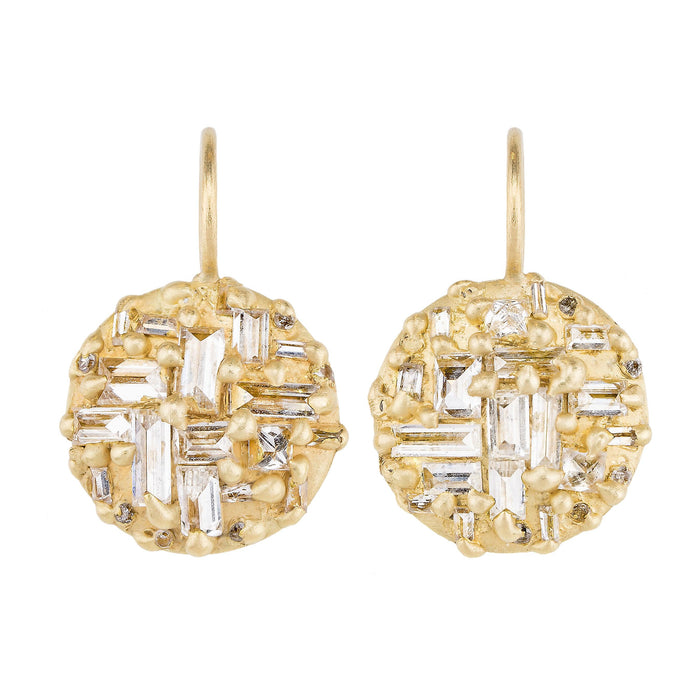 The Diamond Mondrian Hook Earrings - PollyW