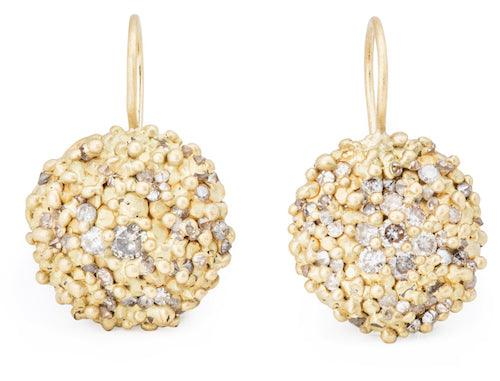 The Dome Encrusted Hook Earrings - PollyW