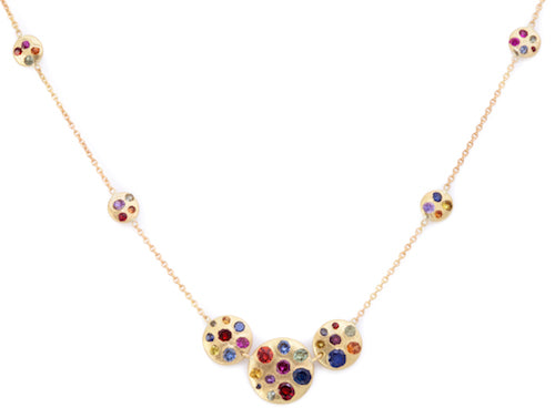 The Cosmos Multi Disc Necklace - PollyW