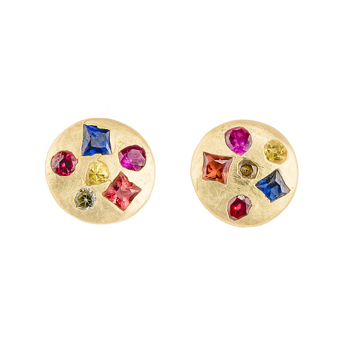 The Crystal Disc Studs 4 - PollyW