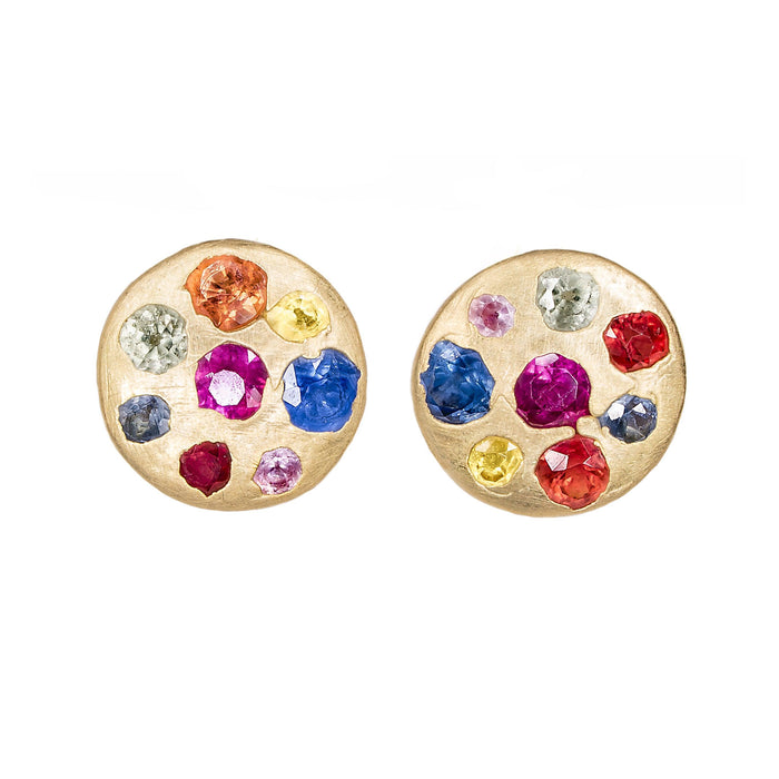 The Small Crystal Disc Studs - PollyW