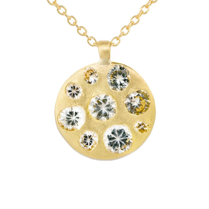 The Crystal Disc Necklace - PollyW