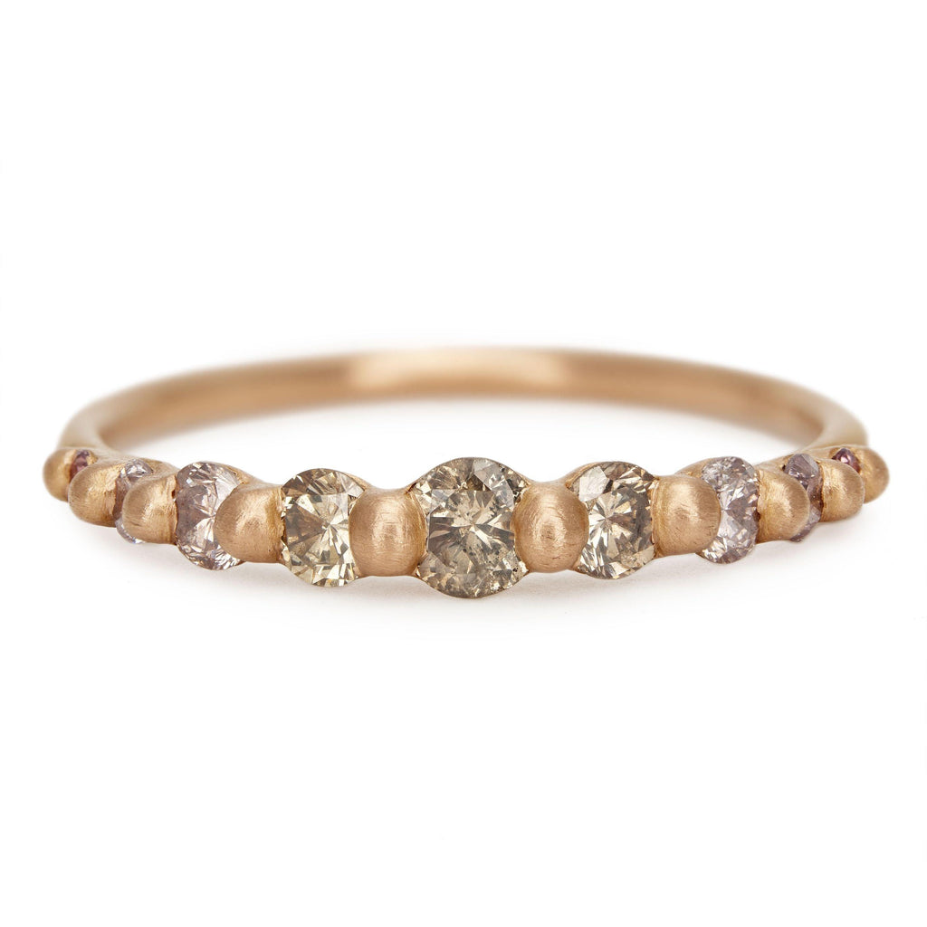 Stellar Diamond Lila Halo Ring
