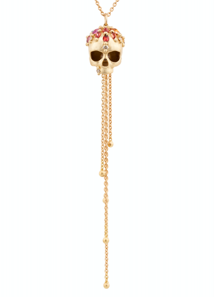 Enchanted City Skull Necklace