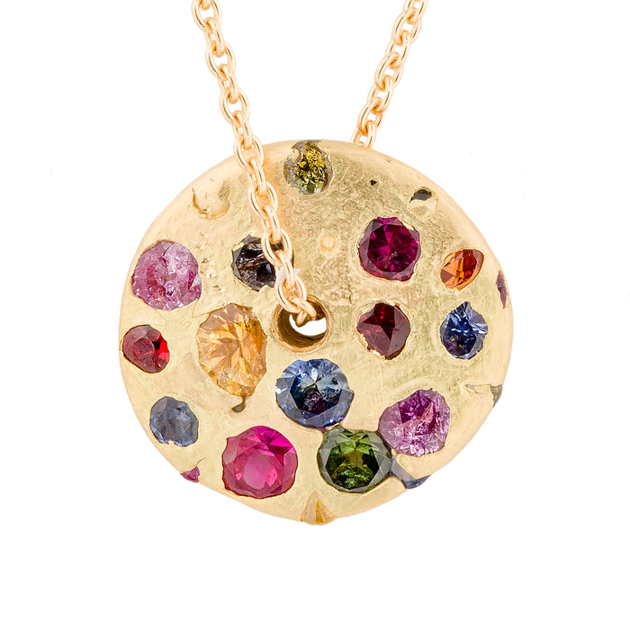 Blossom Crush Spinning Disc Necklace