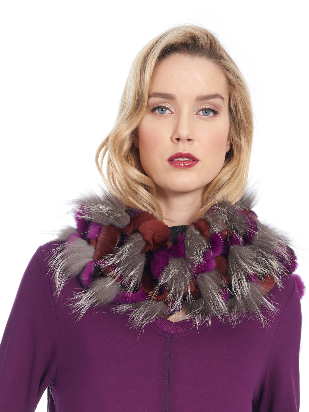Fox Fur and Rex Rabbit Scarf - paulamarie