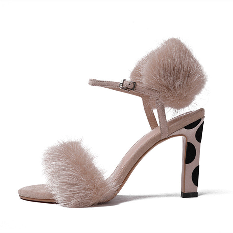 Mink Fur Heels - paulamariecollection