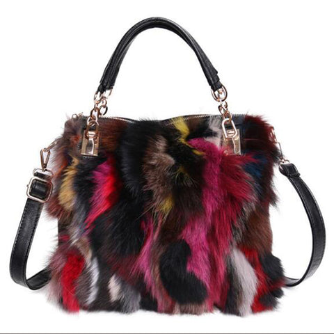 Fox Fur and Leather Handbag - paulamariecollection