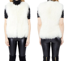 Mongolian Lamb Vest - paulamariecollection