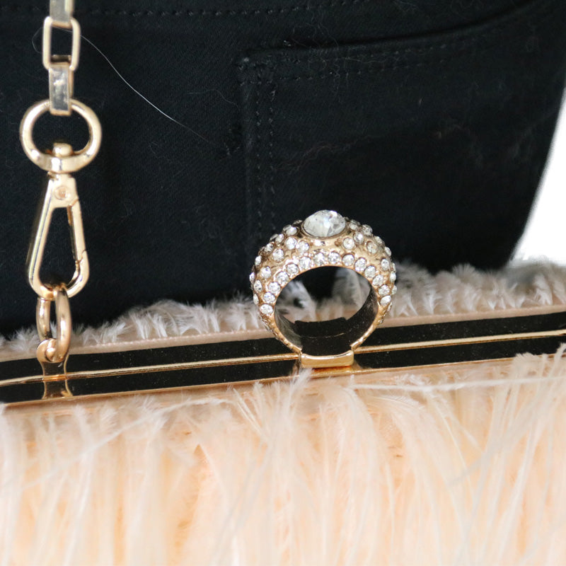 Ostrich Feather Handbag - paulamariecollection