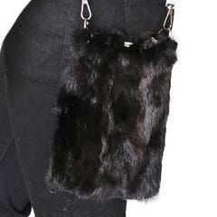 Reversible Mink Fur and Metallic Leather Crossbody Purse - paulamariecollection