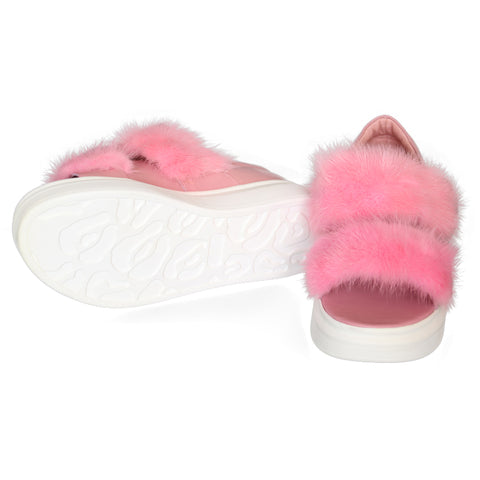 Mink Fur Strap Sandal - paulamariecollection