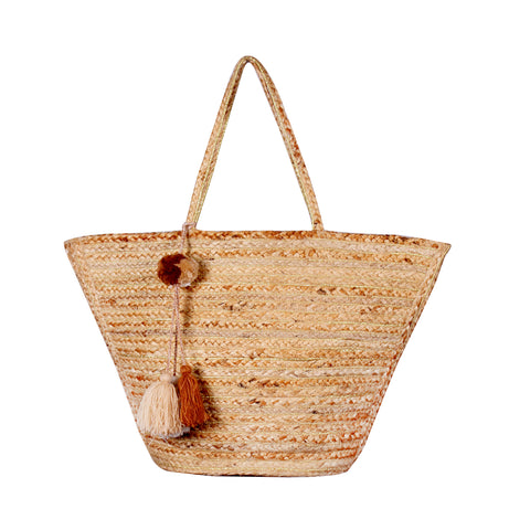 Enshrine Handwoven Jute Tote Bag - paulamariecollection