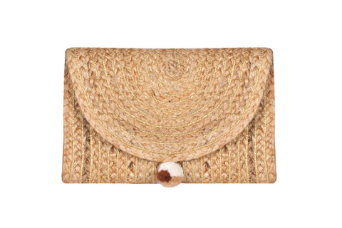 Enshrine Handwoven Jute Clutch - paulamariecollection