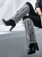 THE LINZI - Knitted Rex Rabbit Boot Cover/Leg Warmer - paulamariecollection