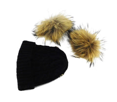 Wool Hat with Two Removable Poms - Kids Size - paulamariecollection