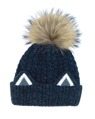 Knitted Cat Ear Beanie with Removable Pom - paulamariecollection