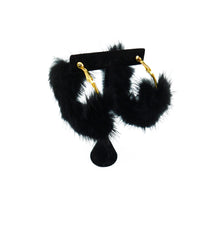 Mink Fur Hoop Earrings - paulamariecollection
