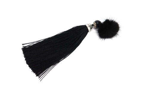 Mink Fur Broach with Tassels - paulamariecollection