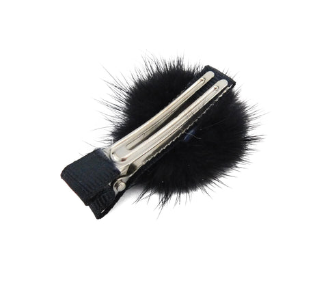 Mink Fur Hair Clip - paulamariecollection