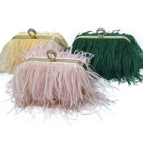 Ostrich Feather Handbag - paulamarie