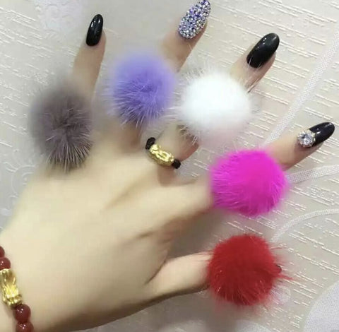 Mink Fur Rings - paulamariecollection