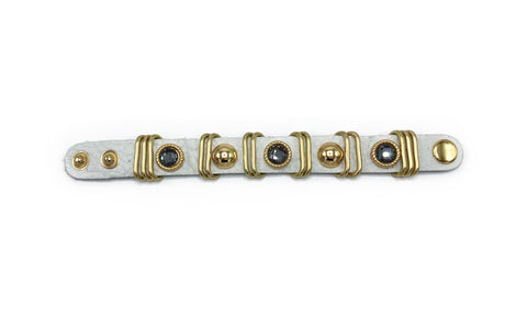 Leather Jewel Studded Bracelet - paulamariecollection