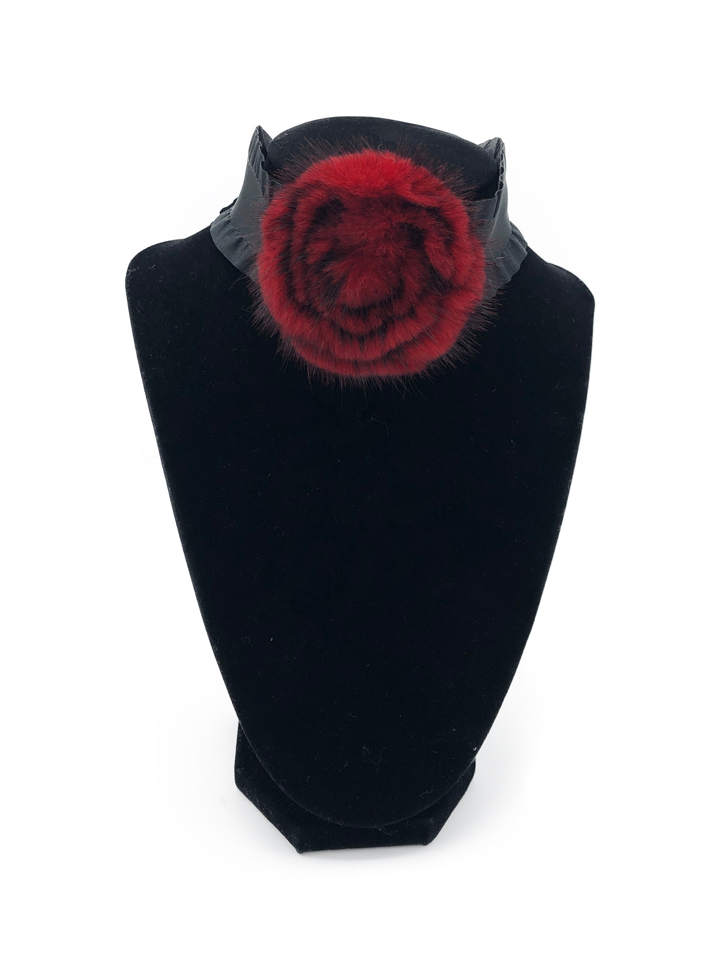Mink Fur Rose Choker - paulamariecollection