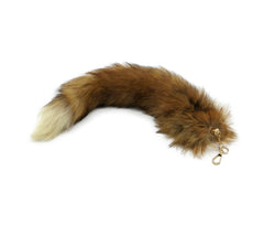 Red Fox Clip-on Fox Tail Keychain - paulamariecollection