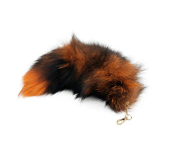 Orange Clip-on Fox Tail Keychain - paulamarie