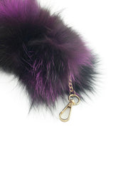 Purple Clip-on Fox Tail Keychain - paulamariecollection