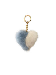 Mink Fur Heart Keychain - paulamariecollection