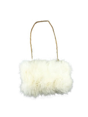 Fox Fur Muff Handbag with Gold Chain - paulamariecollection