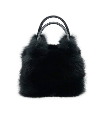 Fox Fur Handbag with Leather Strap - paulamariecollection