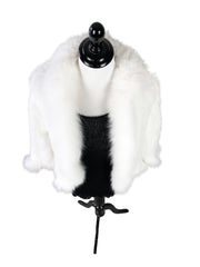 Mink Fur Cape with Fox Fur Trim - paulamarie