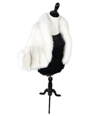 Mink Fur Cape with Fox Fur Trim - paulamariecollection