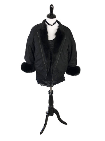 Winter Jacket with Fox Fur Lining and Cuffs - paulamariecollection