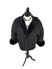 Winter Jacket with Fox Fur Lining and Cuffs - paulamarie
